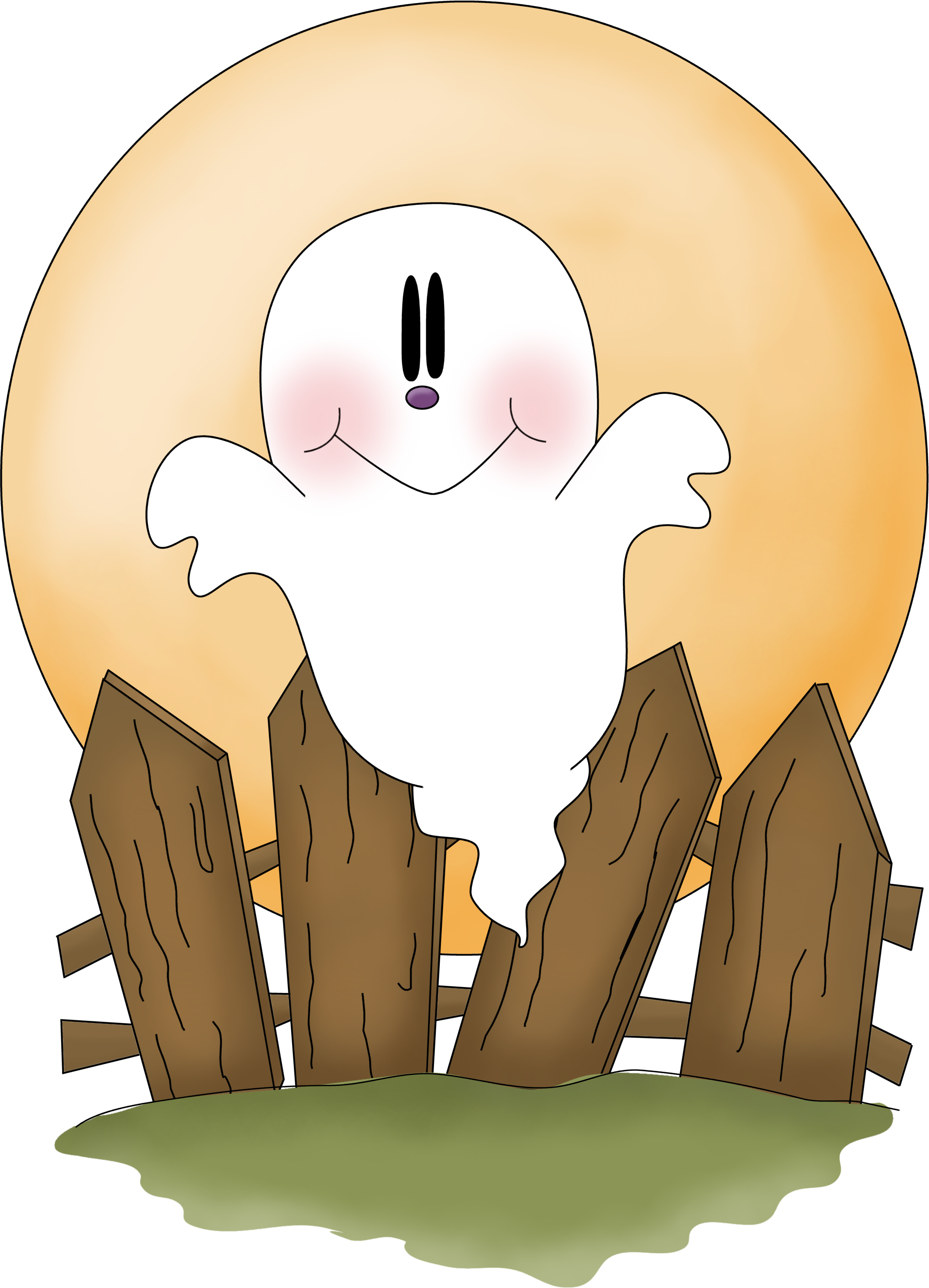 HALLOWEEN GHOST CLIP ART.