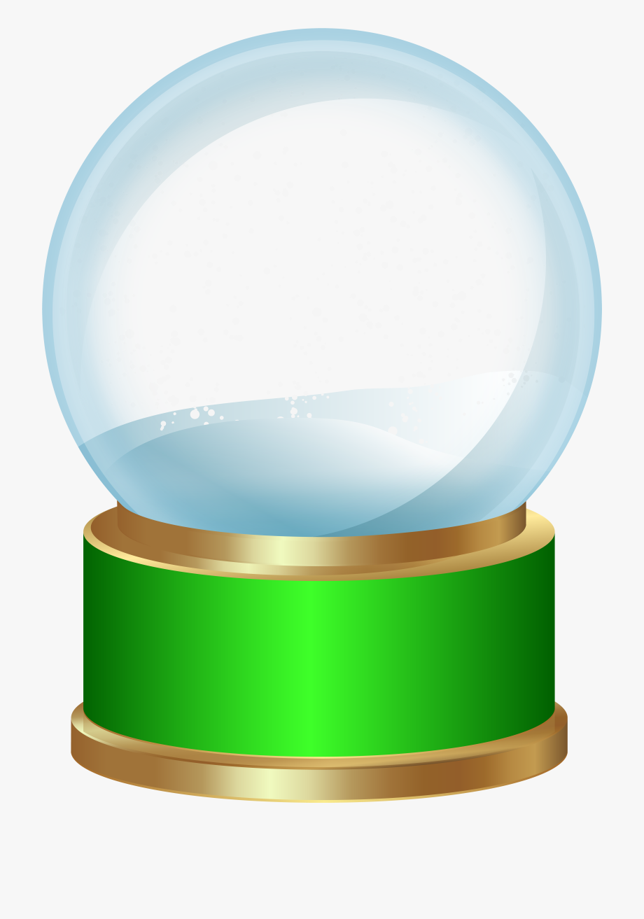 Empty Snow Globe Green Png Clip Art.