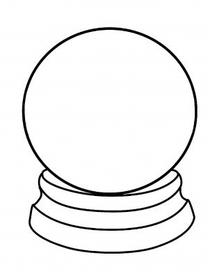 Snow Globe Clipart Black And White 20 Free Cliparts