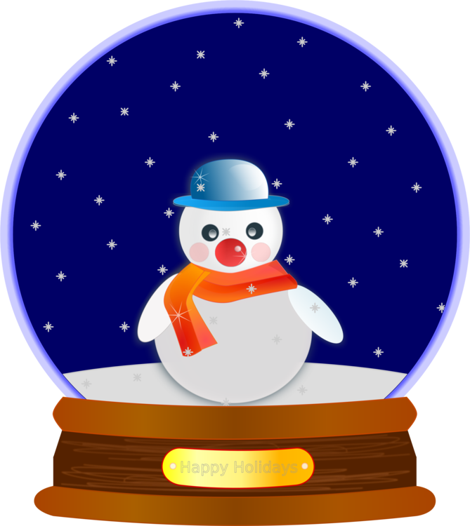 Snowman,Flightless Bird,Christmas Ornament Clipart.