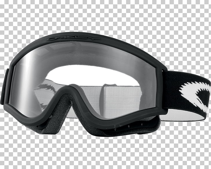 Oakley Ski Glasses, clear Oakley snow goggles with black.
