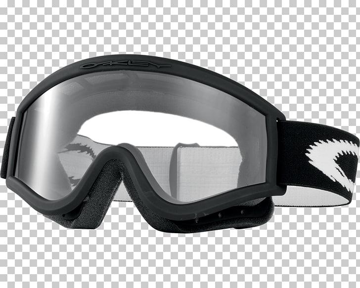 Oakley Ski Glasses, clear Oakley snow goggles with black.