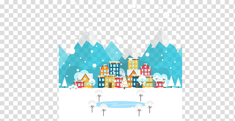 Snow Graphic design , Snow town transparent background PNG.