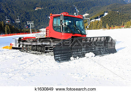 Stock Photograph of Snow groomer 2 k1630849.