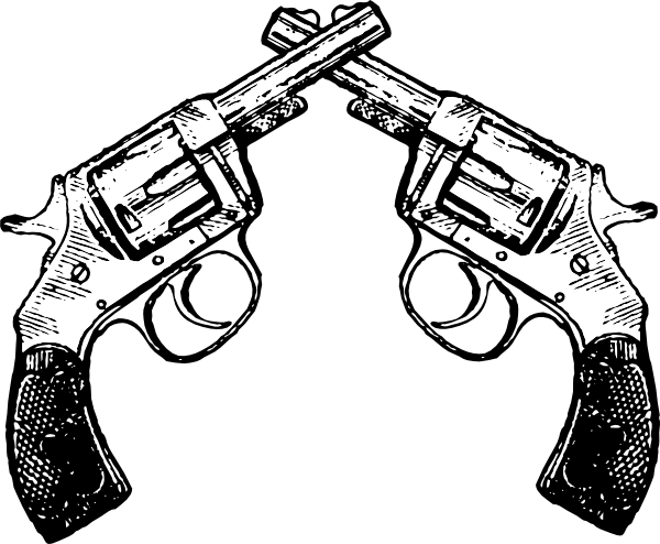 Crossed Guns Clipart.