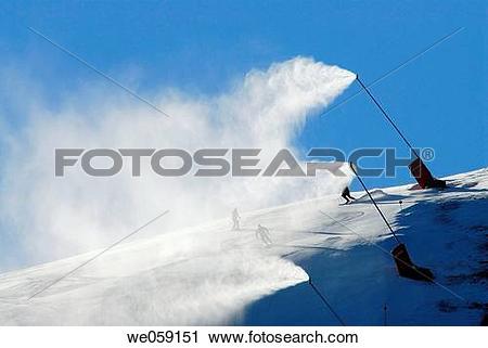 Stock Photography of Snow guns. La Molina, Cerdanya. Girona.