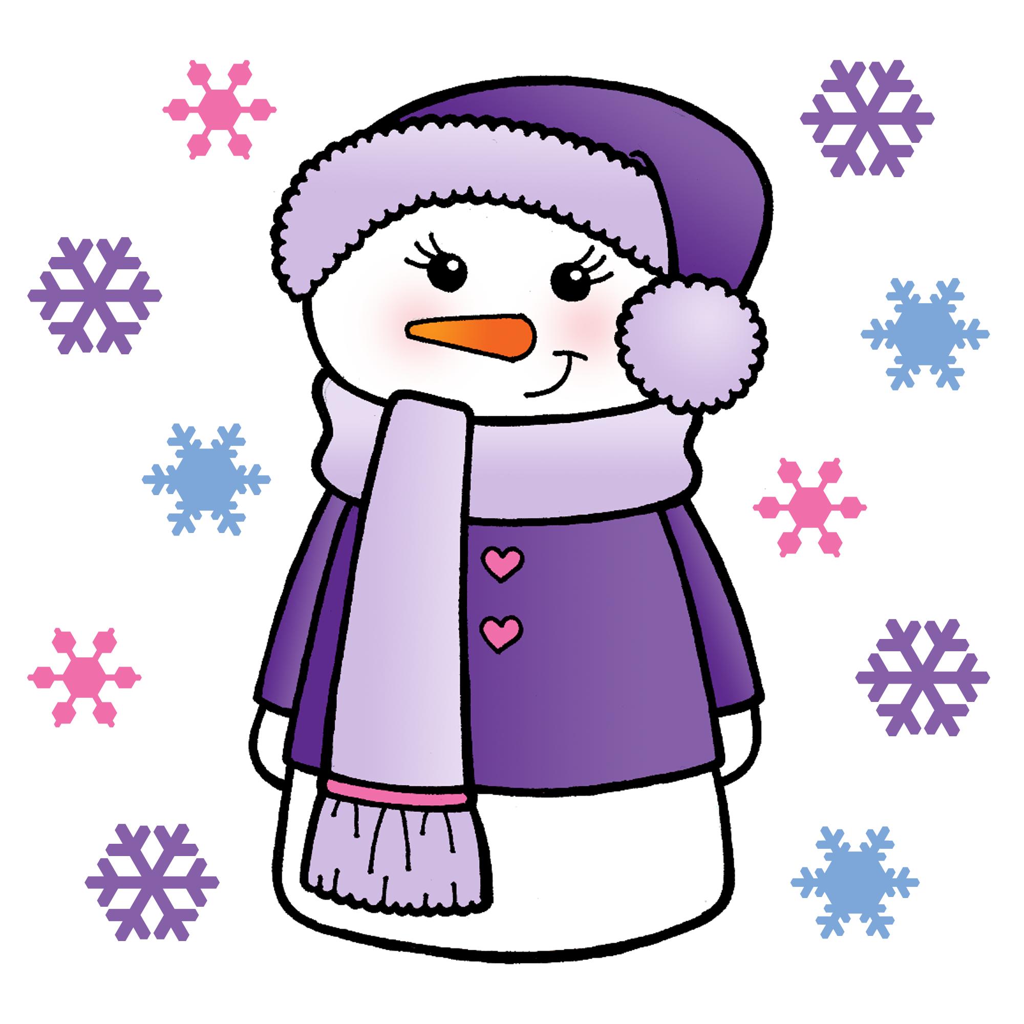Snow Woman Clipart.