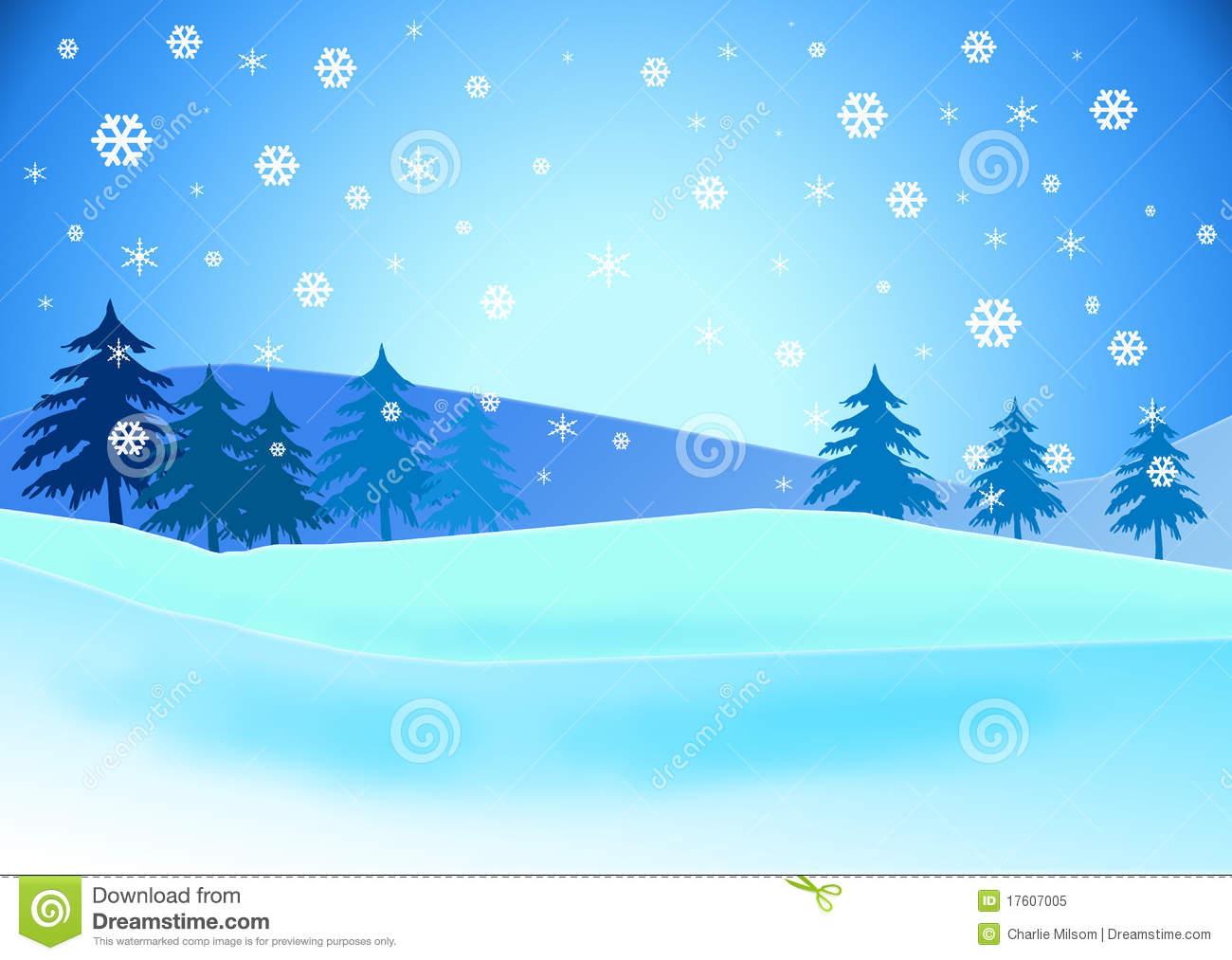 Snow Landscape Clip Art.