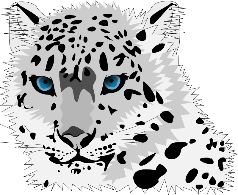 Free Clipart: Snow leopard.
