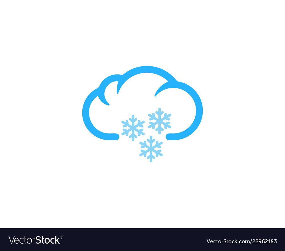 Snow weather and season logo icon design.