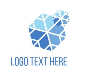 Blue Snow Logo.