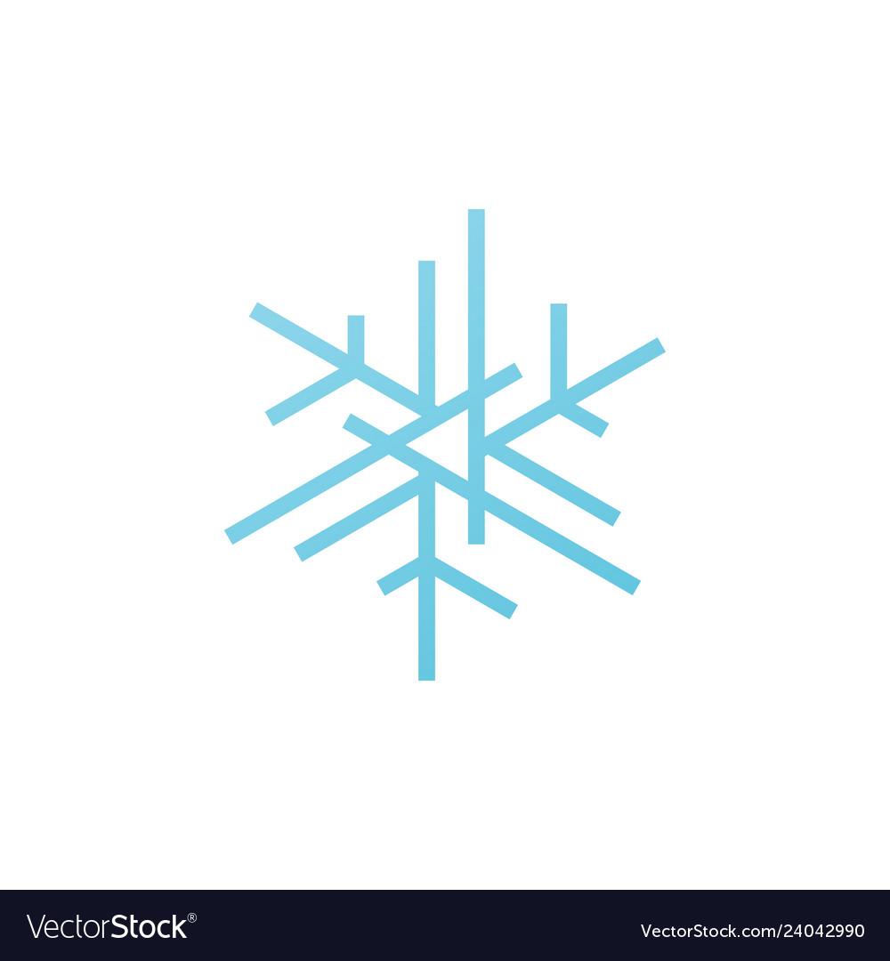 Snowflakes snow flakes logo icon element.