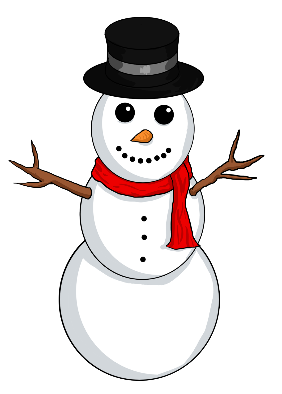cute christmas snowman clipart free - Clipground