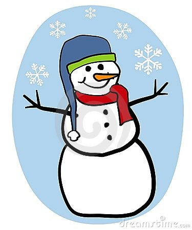 Snowman Clip Art Stock Photo.