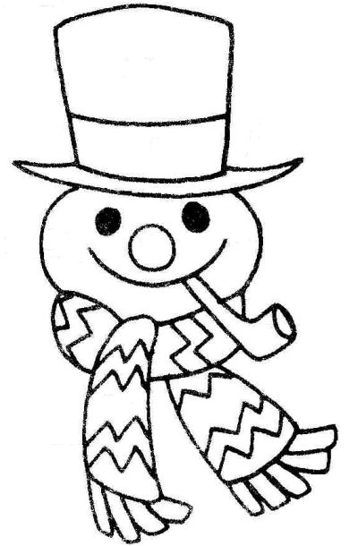 Snowman Clipart Black And White.