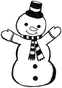 Free Snowman Clipart Black And White.