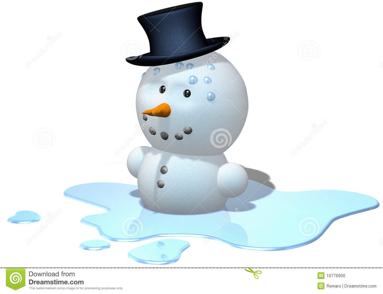 Melting Snow Stock Illustrations.