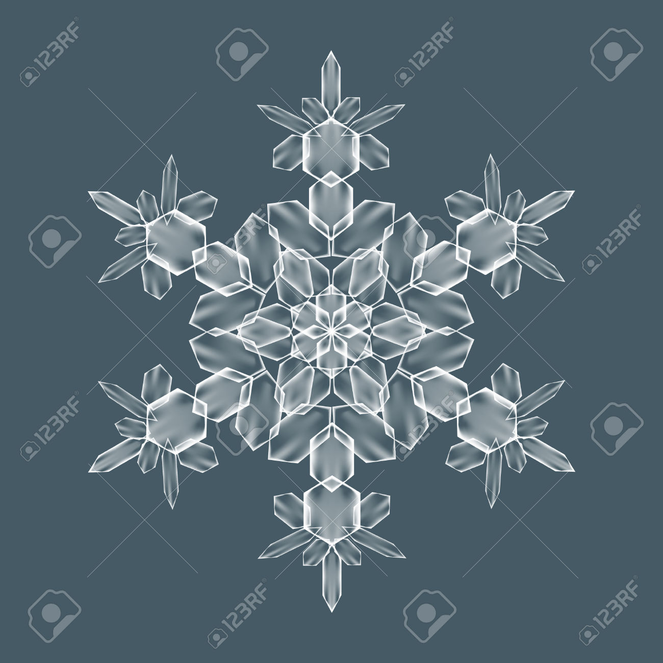 Decorative Snowflake. Background Pattern For Winter And Christmas.