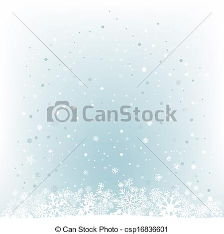 Vector Clipart of soft light blue snow mesh background.
