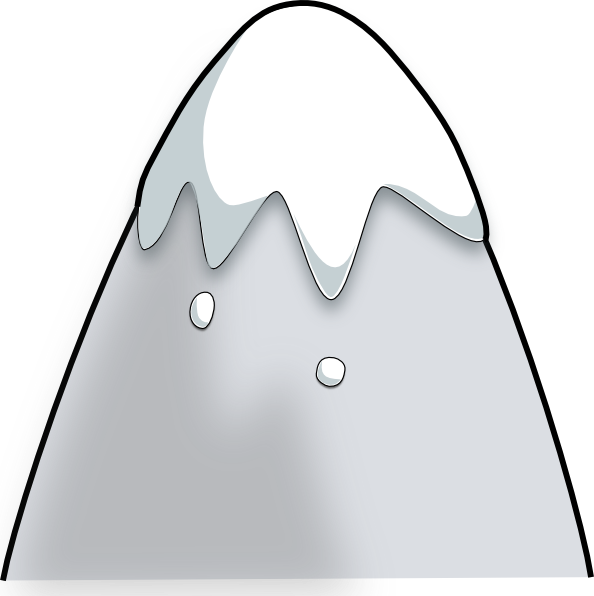 Free Snowy Mountain Clipart Image.