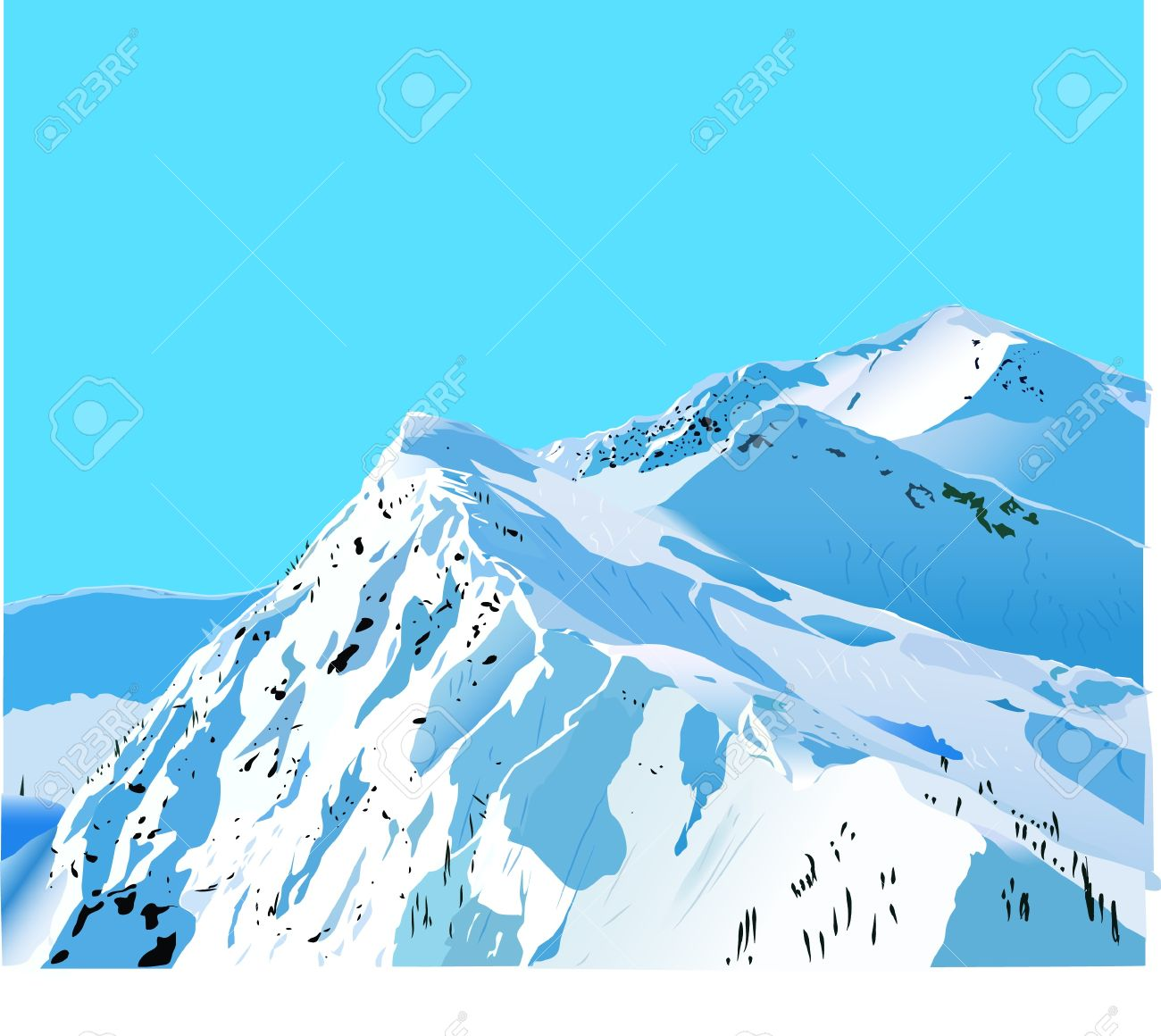 snow mountains clipart clipground
