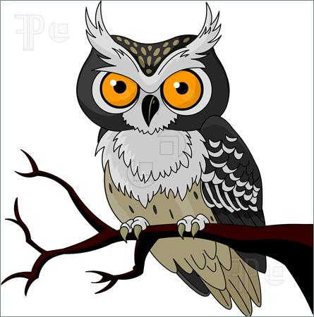 Flying Snowy Owl Clipart.