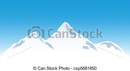 Snowy peak Clip Art Vector and Illustration. 322 Snowy peak.