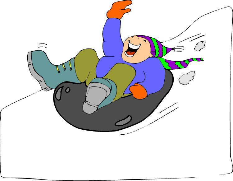 snow tubing cartoon clip art.