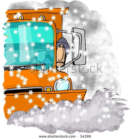 Clipart Illustration Snowplow Driver Stock Illustration 34399.