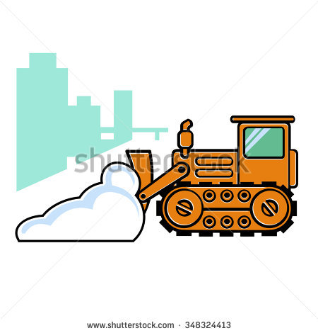 snow plow cartoon clipart #15