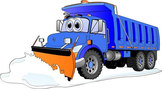 Cartoon Snow Plow Clipart#1984310.