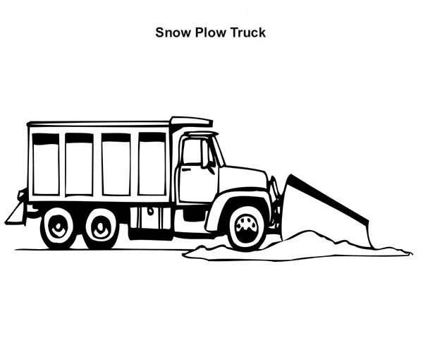 Snow Plow Truck Clipart Printable 869.