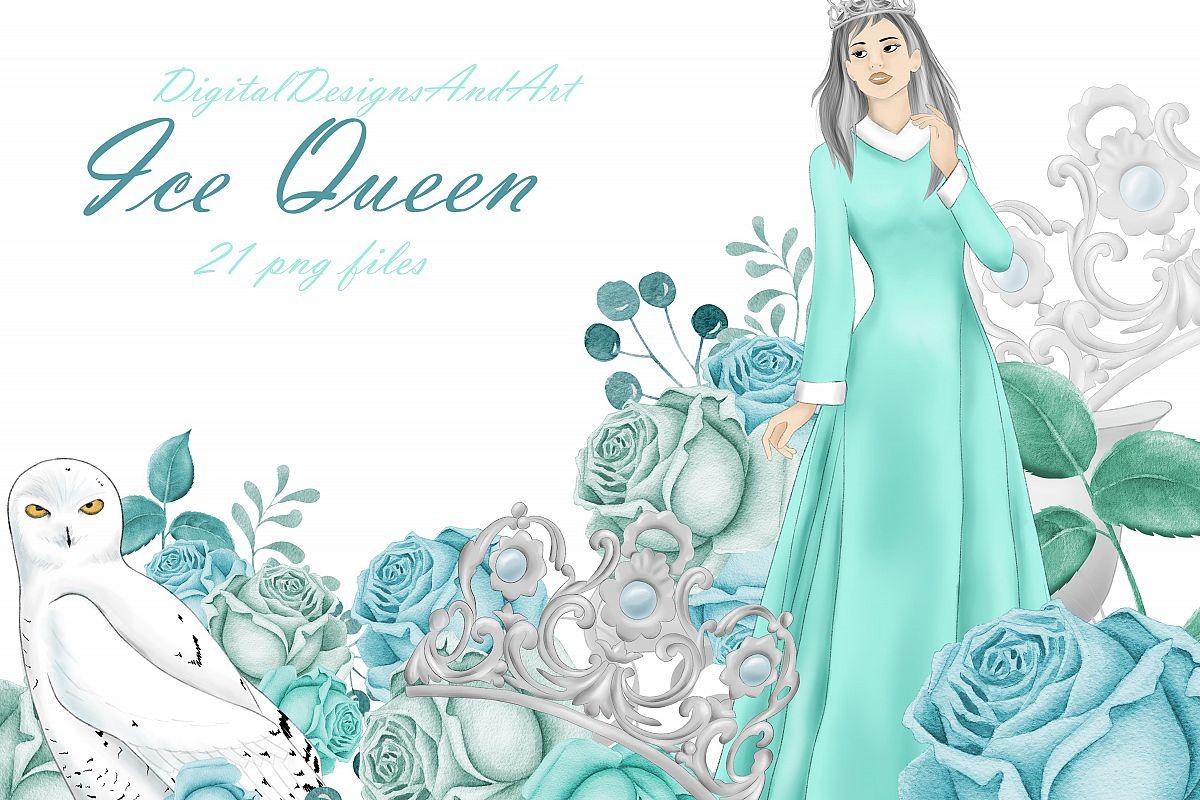 Snow queen clipart.