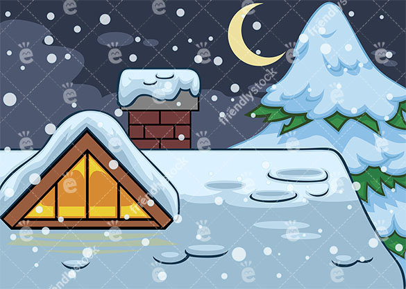 Christmas Roof Clipart.