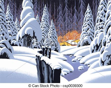 Snow scene Illustrations and Clipart. 8,198 Snow scene royalty.