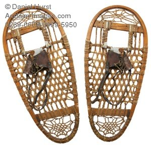 Stock Photo of Old Snowshoes.