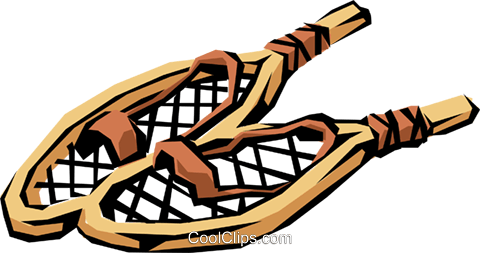Snowshoes Royalty Free Vector Clip Art illustration.