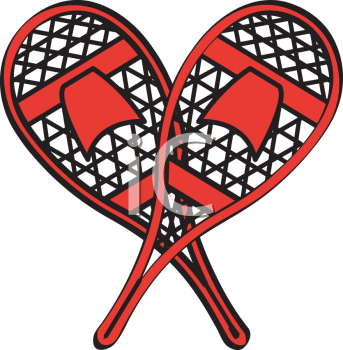 Royalty Free Clipart Image: Vintage Snowshoes.