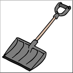 Clip Art: Snow Shovel Color I abcteach.com.
