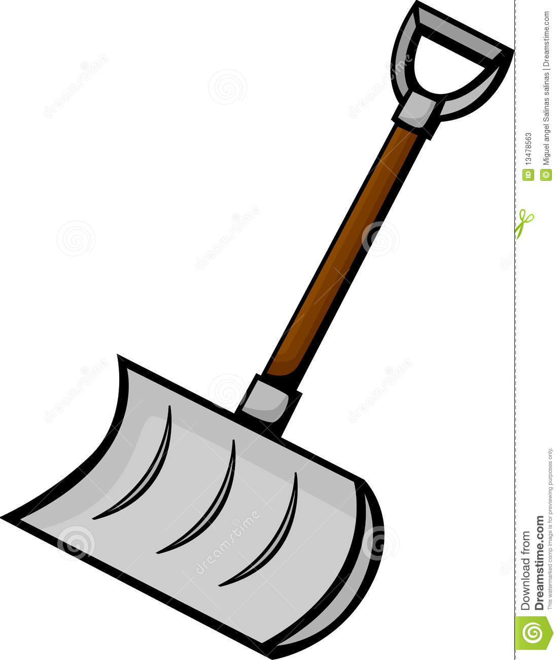 Snow Shovel Clipart.