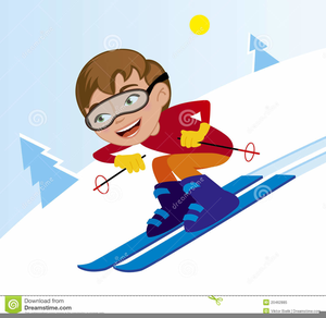 Downhill Skiing Clipart.