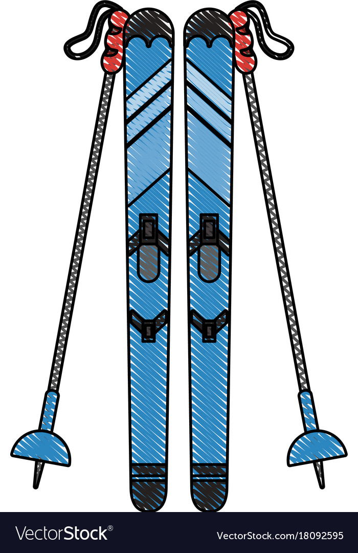 Snow skis equipment.