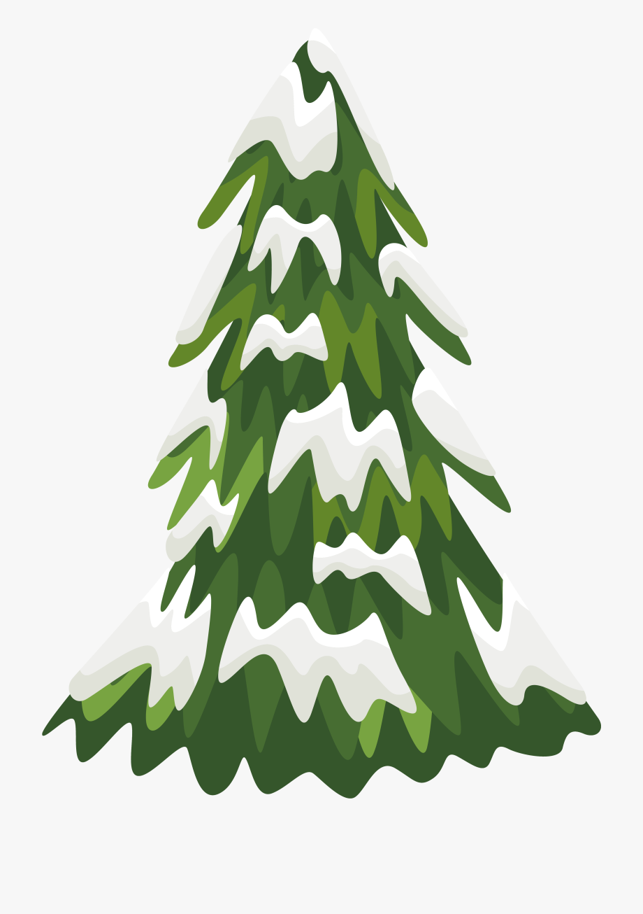 28 Collection Of Snowy Christmas Tree Clipart.