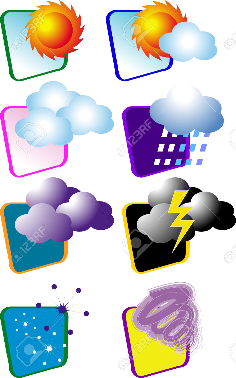 A Vector, Illustration For A Variety Icon For Weather.