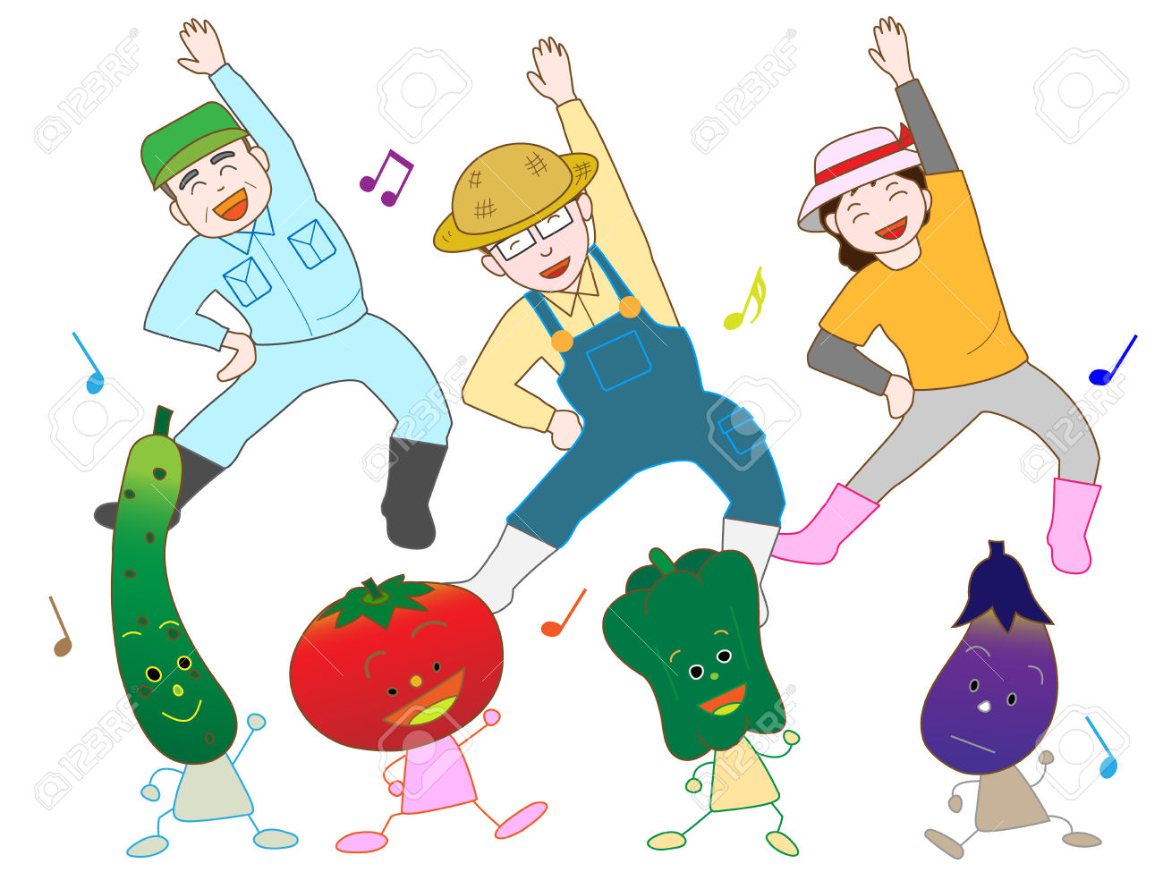 Farmers And Vegetable Twister Royalty Free Cliparts, Vectors, And.