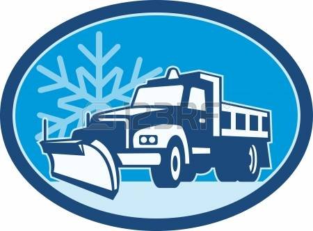 snow plow cartoon clipart #3