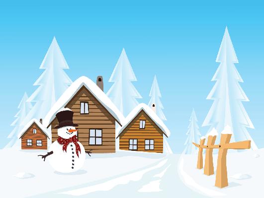 winter village clipart winter village landscape huts and.