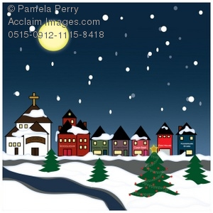 snowy village clipart & stock photography.