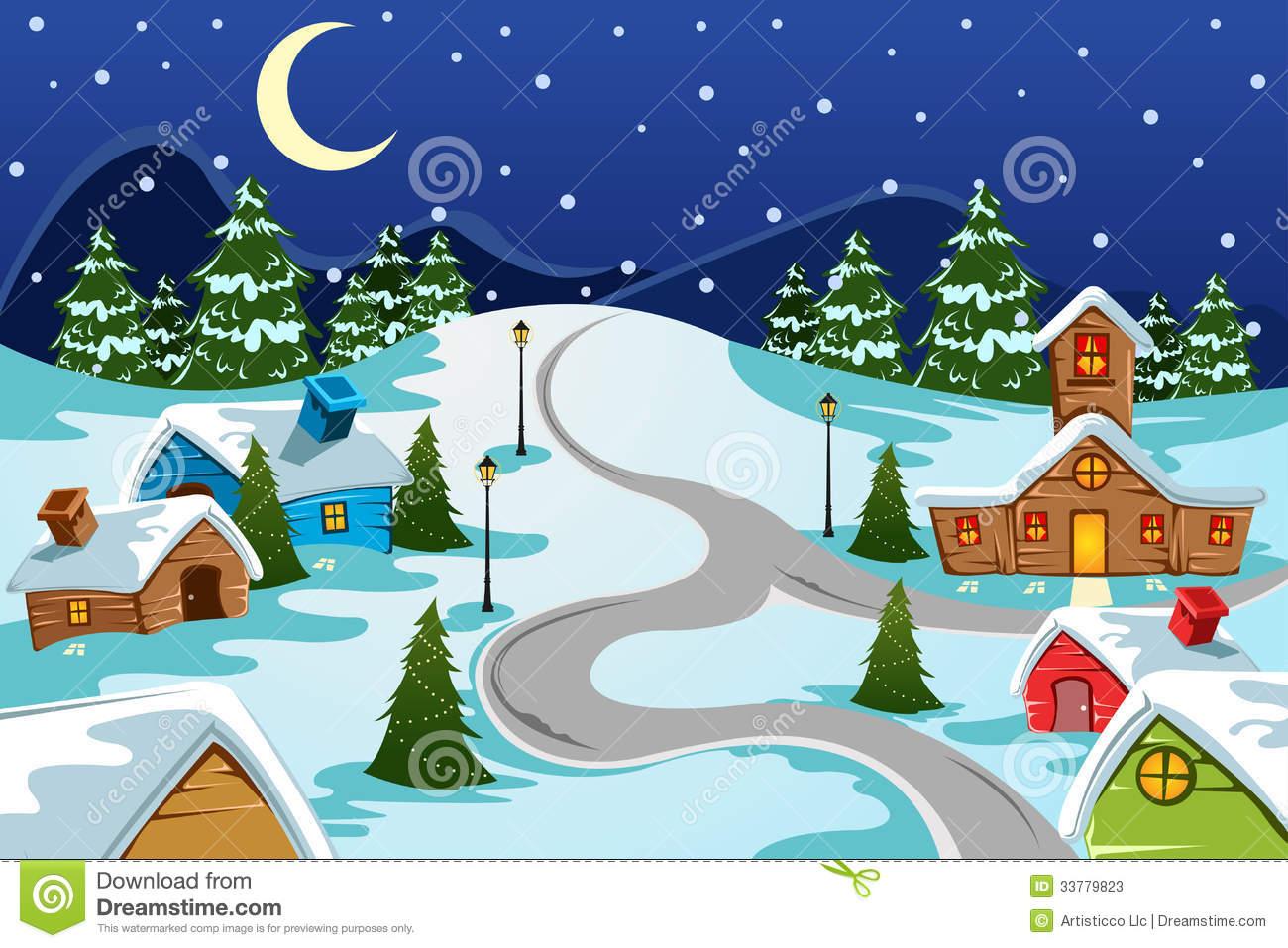 Village clipart winter.