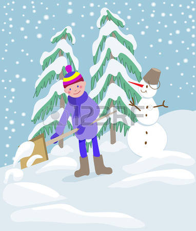 178 Shoveling Snow Stock Vector Illustration And Royalty Free.